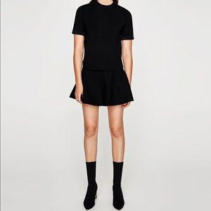 Black Zara A-Line skirt